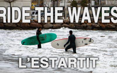 Surfers at the beach of Estartit
