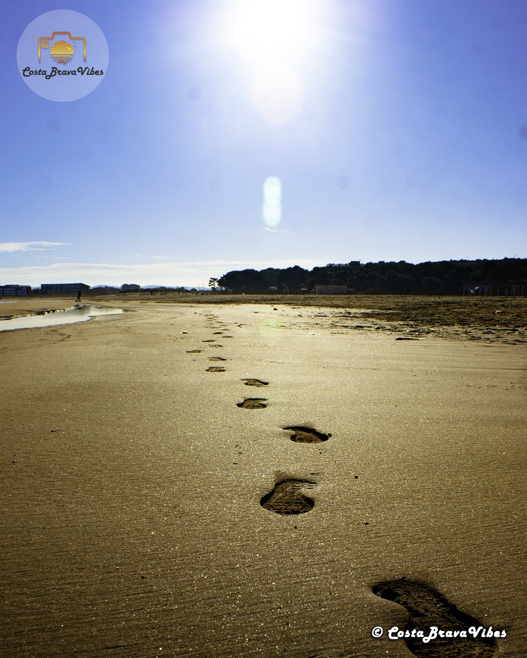 Footsteps sand Beach of Estartit Summer Spain L'Estartit Costa Brava Vibes Sun Beachlife
