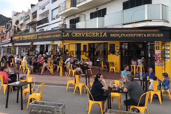 La Cerveseria Estartit Costa Brava Beer German Menu Restaurant Spain Open all year