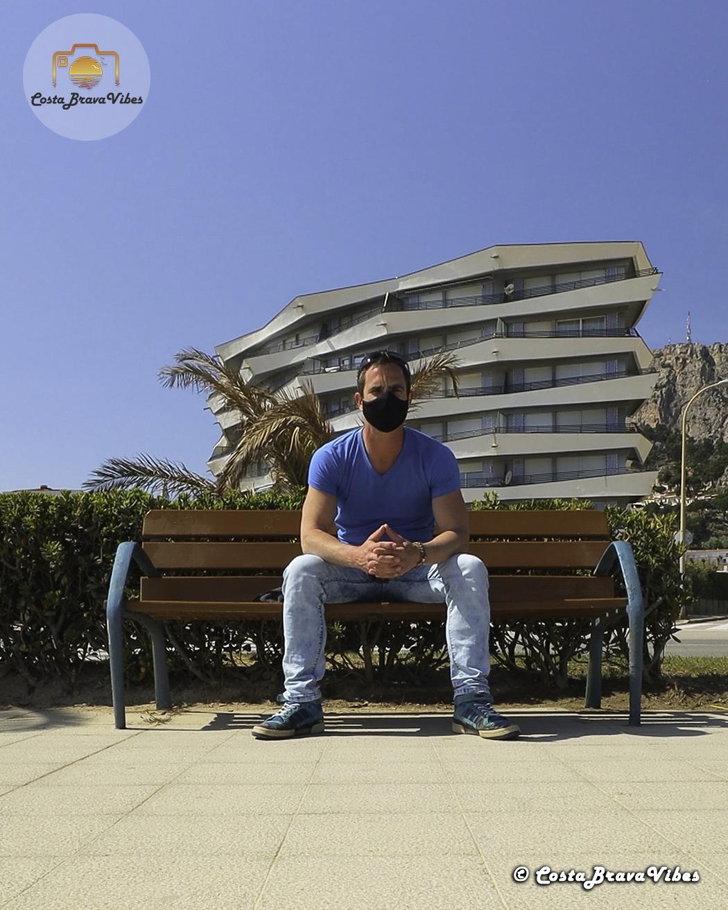 Matt EnlaCosta Estartit Costa Brava Spain Europe Portrait Bench Boulevard