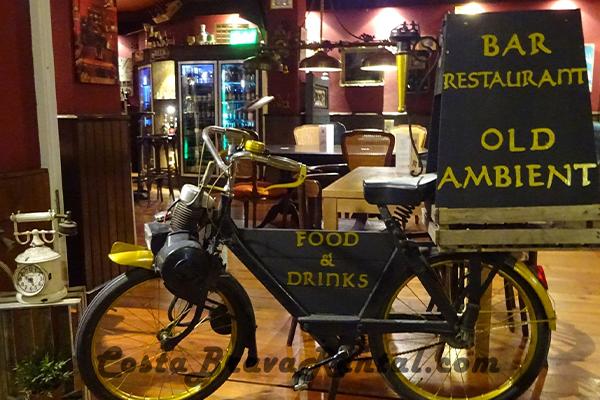 Restaurant Old Ambient in Estartit, Costa Brava, Spain, Bike
